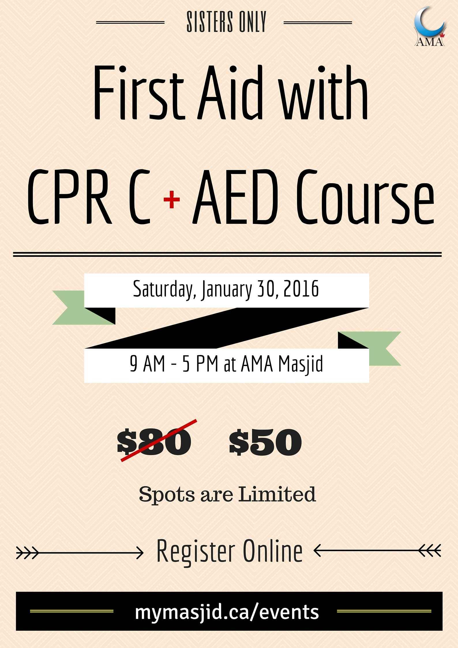 Register For First Aid With Cpr C Aed Course Sisters Only