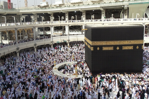 pray salah at kaba