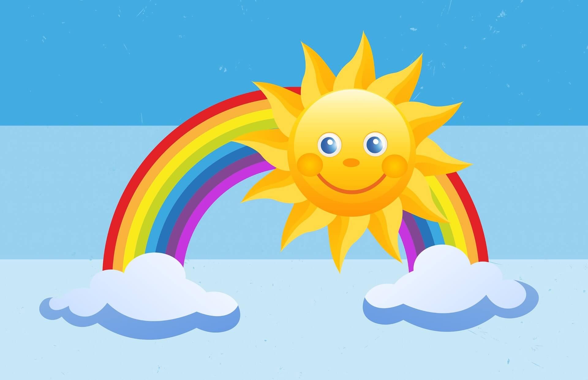 часто картинки с радугой и солнцем и детьми шкаф является