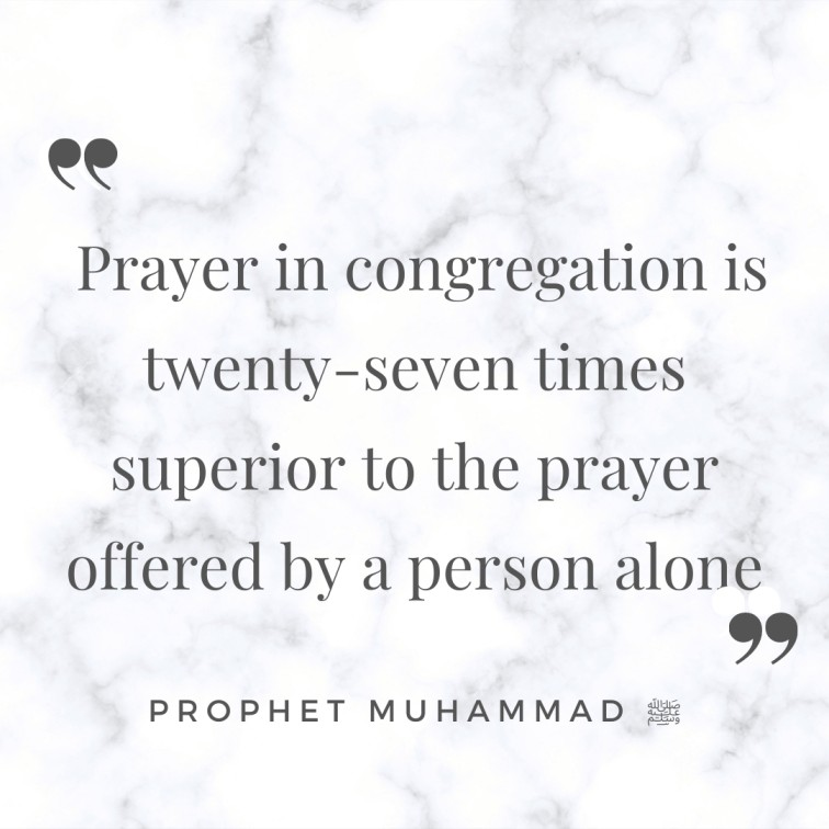 prayer is twenty seven times the reward