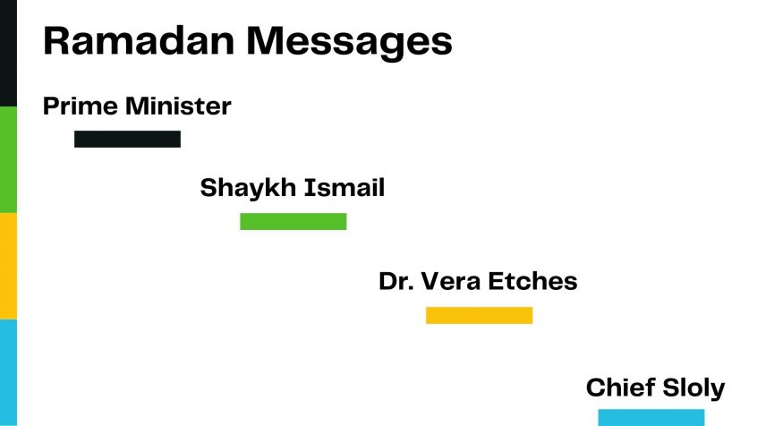 ramadan messages from Imam PM OPS Chief and Dr Etches
